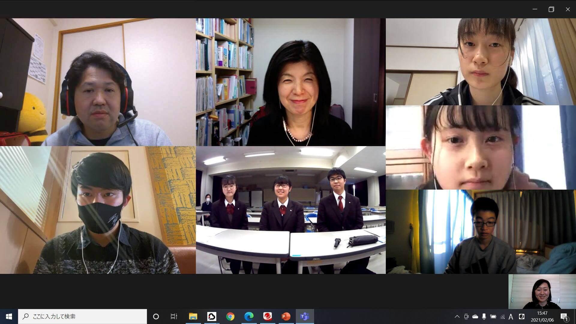 SNET台湾が東京都立八王子東高等学校で特別授業を行いました